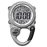 Dakota Watch Company Digital Clip Mini Watch with Water Resistant, Silver