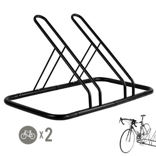 2 Bike Bicycle Floor Parking Rack Storage Stand