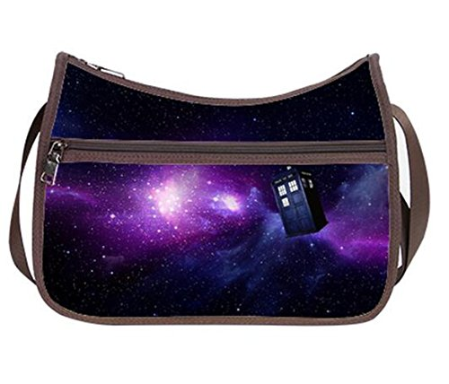 Fashion Ladies Girl Hobo Handbag Shoilder Bags with Doctor Who Tardis in the Galaxy Print