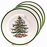 Spode Christmas Tree Bread and Butter Plate, Set of 4
