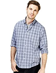 XXXL Pure Cotton Easycare Over Checked Shirt