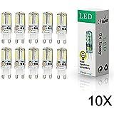 ELINKUME 10er-Pack G9 SMD58 3014 LED lampen 3Watt LED warmweiß Leuchtmittel LEDs Lampe 320-350LM AC200-240V