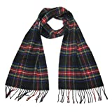 Wool Tartan Scarf for Men & Women - Pure Lambswool Tartan Scarves - Made in Scotland
