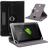 NETBOON® Original Universal 10 Inch Tablet Flip Cover Case With 360 Rotation & Stand Cover PU Leather - Black