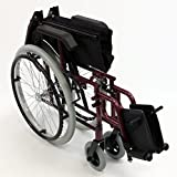 Karman LT-980-BD-E 24 Pound Ultra Lightweight Wheelchair In Burgundy Color with Elevating Leg Rest, Burgundy