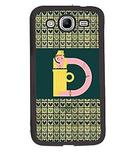 Printvisa 2D Printed Alphabet D Designer back case cover for Samsung Galaxy Mega 5.8 I9152- D4254