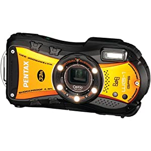 Pentax Optio WG-1 14 MP Waterproof Digital Camera with GPS and 5x Optical Zoom - Orange