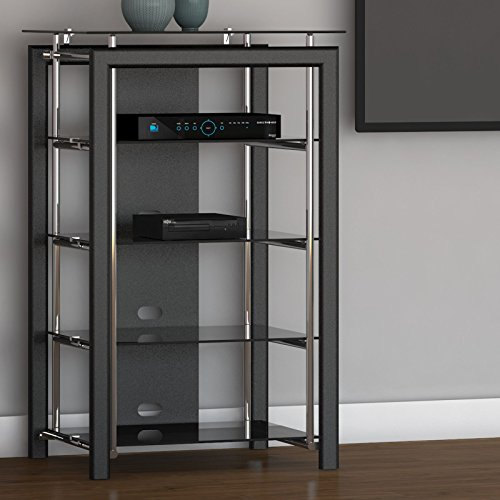 Midnight Mist Media Stand in Black (Console In Furniture compare prices)