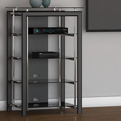 Midnight Mist Media Stand in Black (Console In Furniture compare prices)
