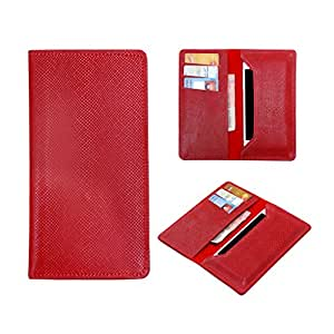 SkyAnk Pu Leather Wallet Pouch Case Cover For Intex Cloud Swift