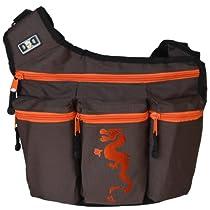 Diaper Dude Messenger Diaper Bag, Brown Dragon