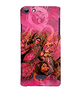 Durga Maa 3D Hard Polycarbonate Designer Back Case Cover for Micromax Canvas Selfie 3 Q348