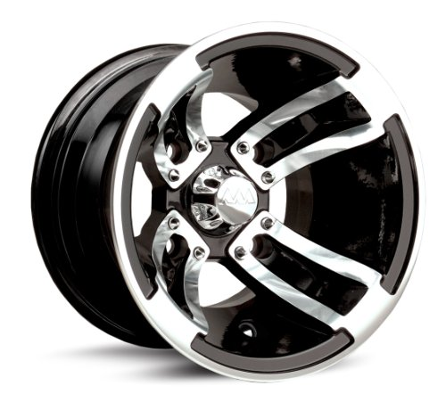 MotoSport Alloys S3 Redline Black Machined 10×8