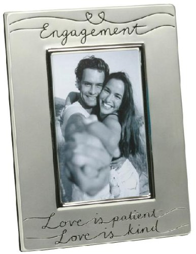 Silver Plated Engagement Photo Frame for 6 x 4 photograph FS39346