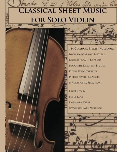 Classical Sheet Music for Solo Violin (Sheet Music Violin compare prices)