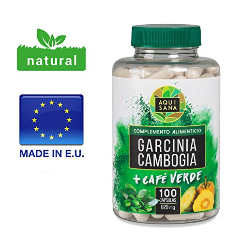 Garcinia Cambogia Green Coffee Extract, Appetite Suppressor and Fat Burner. Complement to the Diet. 100Capsules, Natural Food Supplement, Capsules for Diet, Weight Loss.