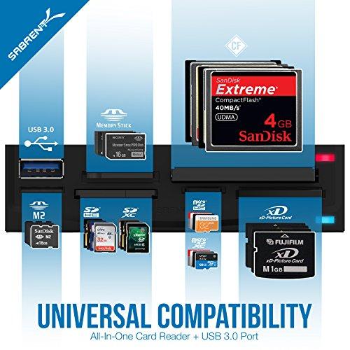 Sabrent USB 3 0 Super Speed 74-In-1 3 5-Inch Internal Flash Media