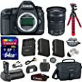 Canon 5D Mark III 22.3 MP Full Frame CMOS with 1080p Full-HD Video Mode Digital SLR Camera with Canon EF 24-105mm f/3.5-5.6 IS STM Lens + Transcend 64GB Memory Card + Canon Deluxe Case + Spider Tripod