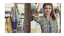 Elegant Attyres Women's Cotton Unstitched Dress Material (Elegant Attyres_18_Beige_Free Size)