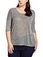 New Look Curves Camiseta Manga Larga (Gris)