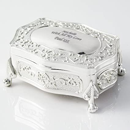 Personalized Antique Trinket Box, Free Engraving – Shipped From England