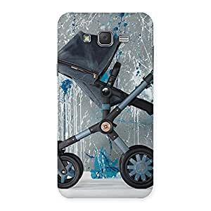 Denim Baby Print Back Case Cover for Galaxy J7