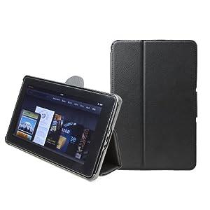 GreatShield Fliq Folio Case Cover Compatible with Amazon Kindle Fire, Black