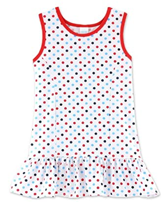 Buy Chez Ami Ruffle Tennis Dress White Red Multi Dot Girls Sizes 4-16 by Patsy Aiken Designs