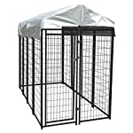 Lucky Dog 6'Hx4'Wx8'L Uptown Welded Wire Kennel