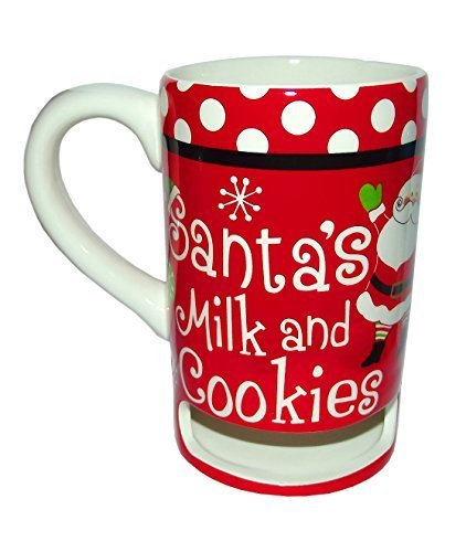 26f7886ec079 Santa s Milk and Cookies Red 14 Oz Christmas Mug