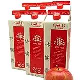 青森リンゴ果汁100%のストレートリンゴジュース 林檎園1000g×18本入り