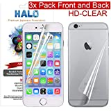 Halo Screen Protector Film (HD) Clear (Invisible) for iPhone 4 & 4S (3-Pack) - Lifetime Warranty - 2013 Updated Design