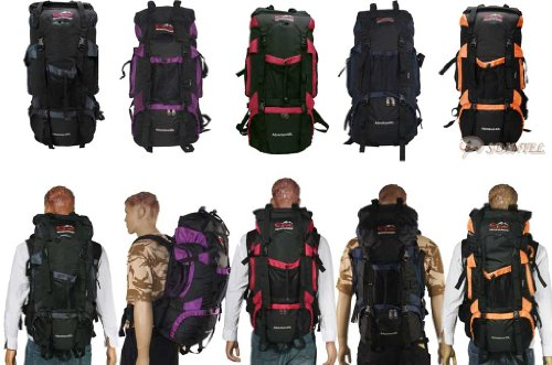 60L OUTDOOR SPORT TRAVEL RUCKSACK BACKPACK CAMPING HIKING WALKING CLIMBING BAG E