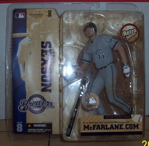 McFarlane Toys MLB Sports Picks Series 8 Action Figure Richie Sexson (Milwaukee Brewers) Retro Brewers Jersey Variant - 1