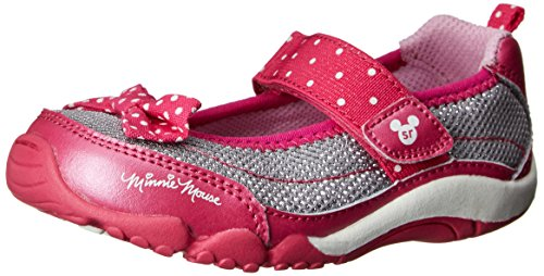 Stride Rite Disney Srt Minnie Athletic Mj Sneaker (Toddler),Grey/Pink,7 M Us Toddler front-718459