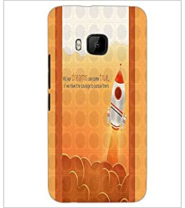 PrintDhaba Quote D-3317 Back Case Cover for HTC ONE M9 (Multi-Coloured)