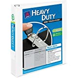 Avery Heavy-Duty View Binder with 1.5 Inch  One Touch EZD Ring, White, 1 Binder (79795)
