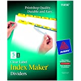 Avery Index Maker White Dividers with Yellow Tabs, 5-Tab, 5 Sets (11414)