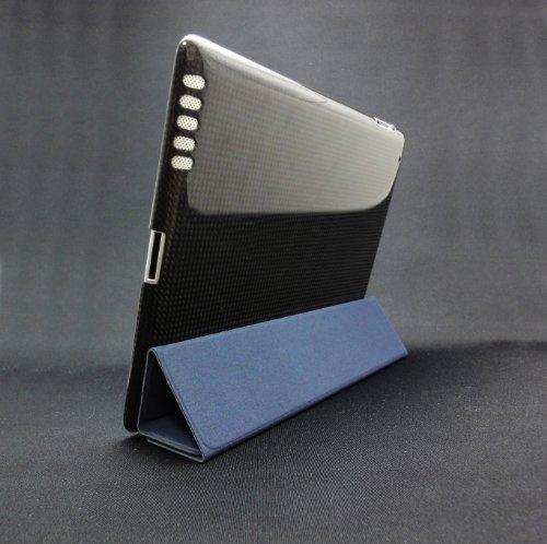 monCarbone+リアルカーボンケース+for+iPad+2(ミッドナイトブラック)+SM002MI