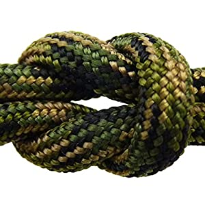 Paracord - Guaranteed MilSpec C-5040H Compliant, 8-Strand, Type III, Military Survival 550 Parachute Cord. 55 Ft. Hank of JUNGLE CAMO, Made in the U.S. from 100% Nylon. Includes FREE EBook: