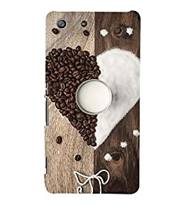 ASSORTED COFFEE BEANS AND SUGAR MAKING A HEART AND DEPICTING SWEETNESS 3D Hard Polycarbonate Designer Back Case Cover for Sony Xperia SP :: Sony Xperia SP M35h