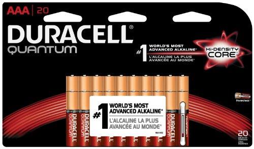 Duracell Quantum Qu2400Bkd09 Alkaline Aaa Batteries, Pack Of 24