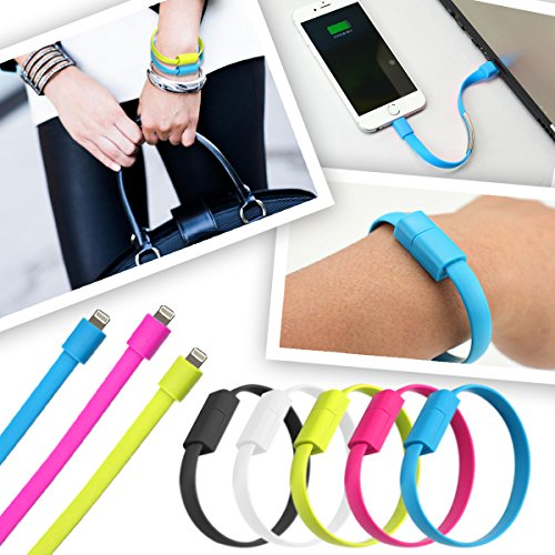 AmaziPro8 Bracelet lightning cable + mini stylus pen + anti dust plug - Best iphone cable USB - high speed iphone charger for iphone models 5 series, iphone 6, 6 plus, 6s, 6s plus, iphone 7, 7 plus