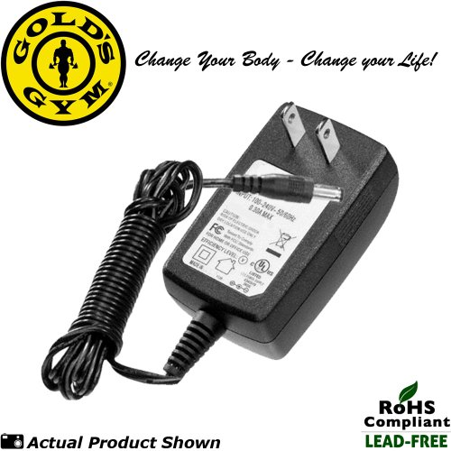 Gold's Gym Power Spin 390R, 490, 590R 'Wall Plug' Power Supply / AC Adapter