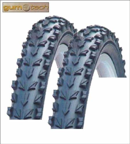 2 x Gum-tech Fahrradmantel Fahrradreifen Decke 24 x 1.95 - 50-507 - 01020146