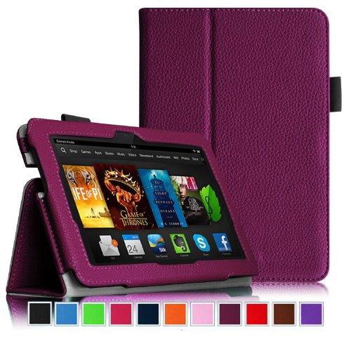 Folio Tablet Stand Smart Case (Amazon Kindle Fire Hdx 7, Purple)
