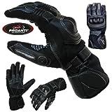 Sommer Regen Motorradhandschuhe mit Visierwischer PROANTI® Motorrad Handschuhe