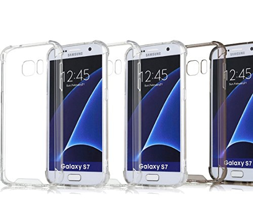 3Pack S7 Case Crystal Clear Slim Bumper Cases ImageLifestlye Shock Absorbing Transparent Protection from Drops and Impacts TPU Gel Rubber Soft Skin Cover for Samsung Galaxy S7 (Virgin Carbon Bulk compare prices)