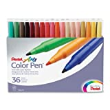 Pentel Color Pen, Set of 36, Assorted (S360-36)