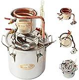 New 5 Gal 20 Litres Copper Alcohol Moonshine Ethanol Still Spirits Boiler Water Distiller